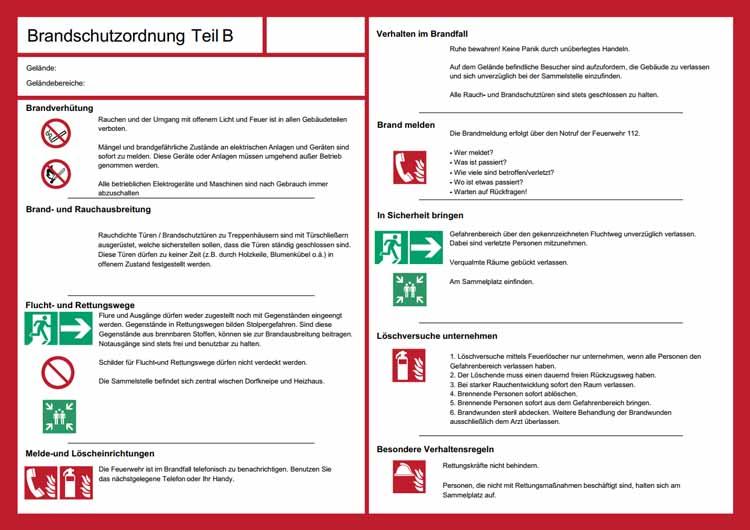 brandschutzordnung - Brandschutzordnung Muster